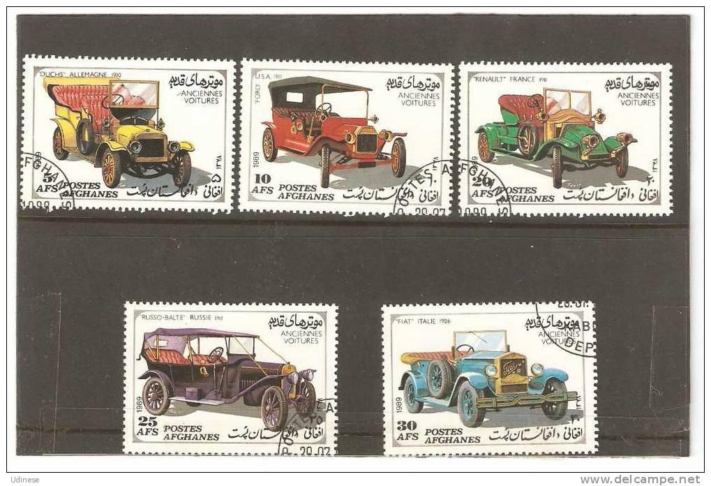 AFGHANISTAN 1989 - OLD CARS - CPL. SET - USED OBLITERE GESTEMPELT USADO - Voitures