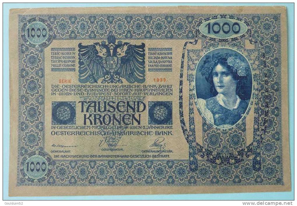 1000 Kronen 2.1.1902 - Oesterreich