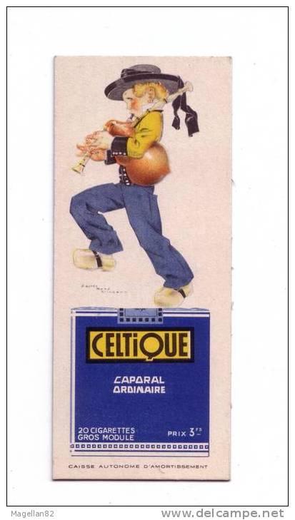Carton Publicitaire Double Face.LOTERIE NATIONALE. ILLUSTRATEUR . POULBOT. Cigarettes CELTIQUE . TABAC - Publicités