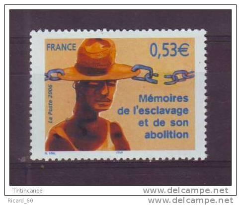 Timbre(s) Neuf(s)** De France, Mémoire De L'esclavage Et De Son Abolition,  N°3903, 2006 - France