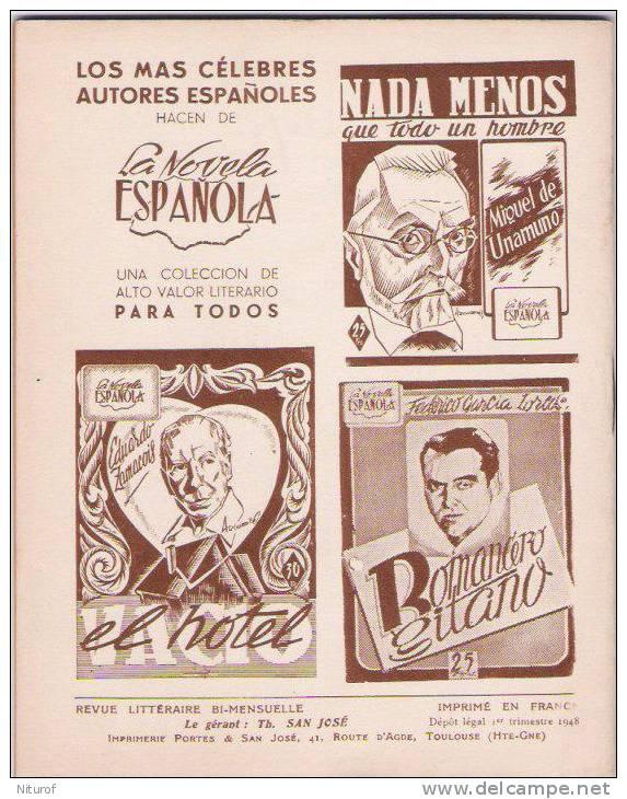 MATEO SANTOS : ARENA  - LEE Toulouse-LA NOVELA ESPANOLA 1948- - Littérature