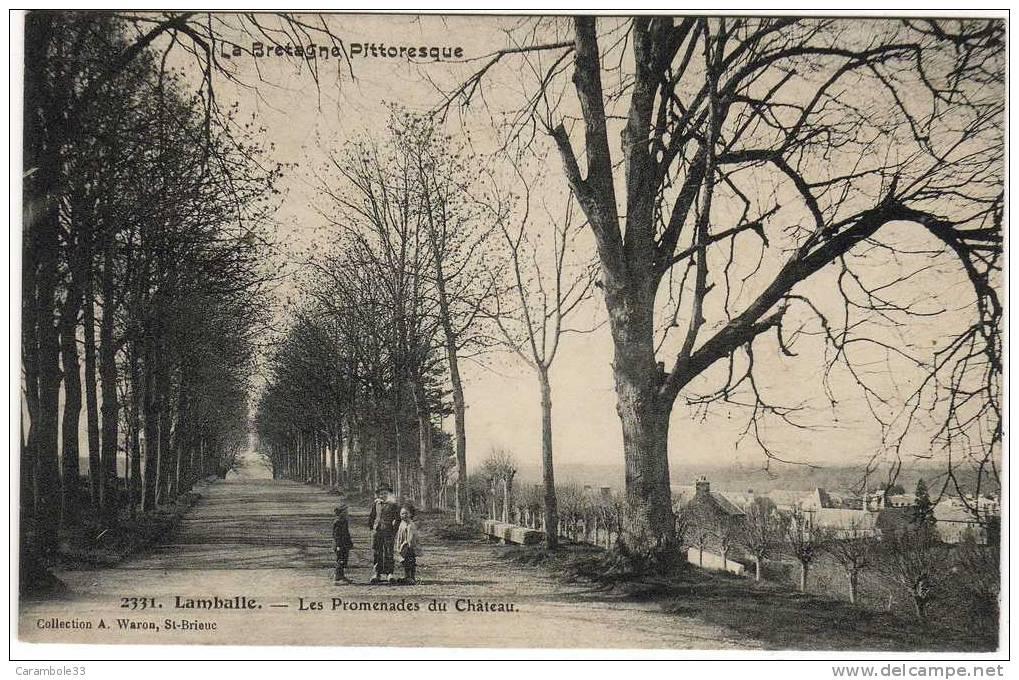 CPA LA BRETAGNE PITTORESQUE   LAMBALLE  Les Promenades Du Chateau       Y5/153 - Lamballe