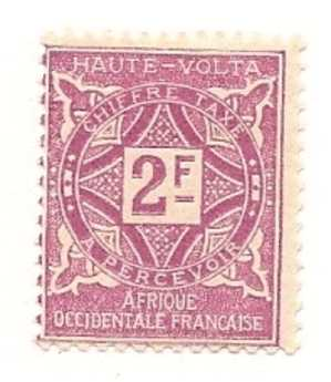 HAUTE-VOLTA Scott # J19 (1) * 1928 - Haute-Volta (1920-1932)