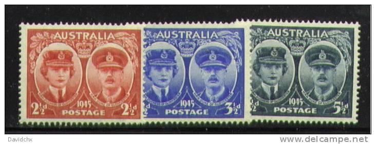 AUSTRALIA, SET, NO.´S 197-199, MNH - 1937-52 George VI