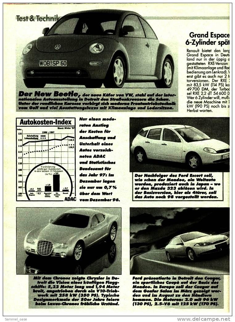 ADAC Motorwelt 2/1998  Mit :  Test :  Saab 9-5 2.3 SE  ,   Suzuki Wagon R+ - Auto & Verkehr