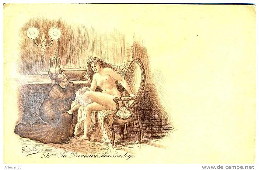 FREDILLO - La Danseuse Dans Sa Loge - Nu - Carte Précurseur - Other Illustrators