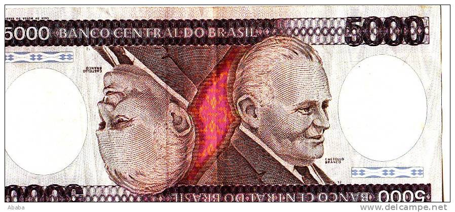 BILLET BRESIL 5000 CRUZEIROS - Brazil