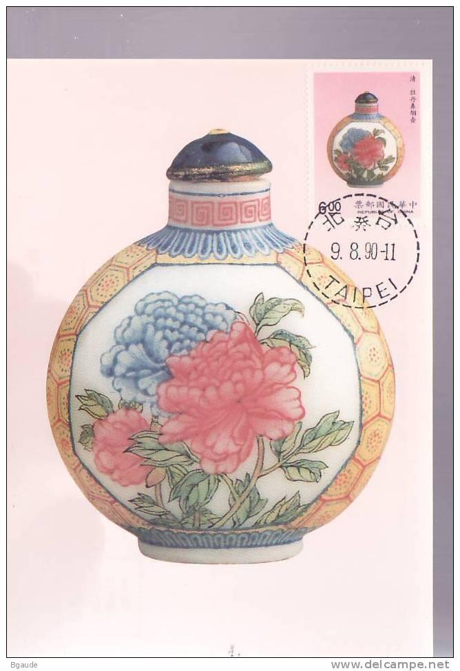 FORMOSE CARTE MAXIMUM NUM.YVERT 1855 TABATIERE DE LA DYNASTIE CH´ING - Non Classificati