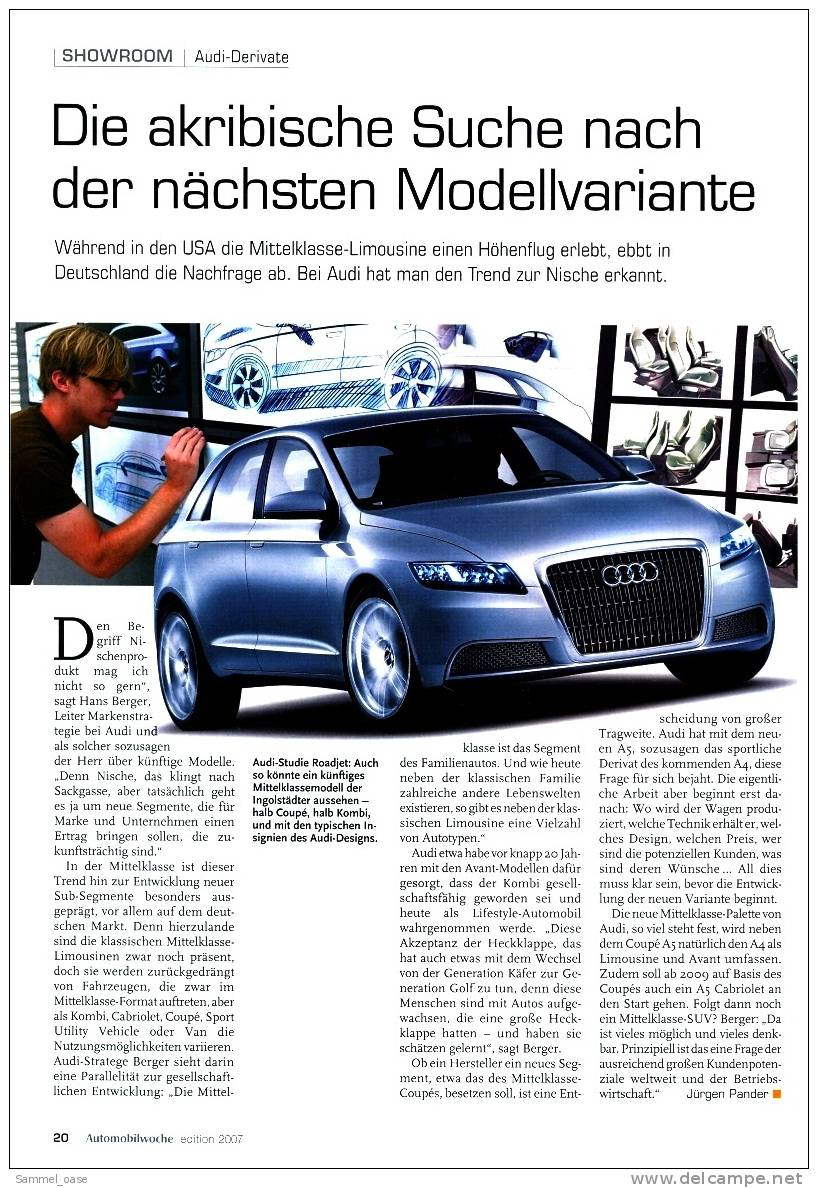 Automobilwoche  Mittelklasse - Märkte - Marken - Modelle 2007 - Auto & Verkehr