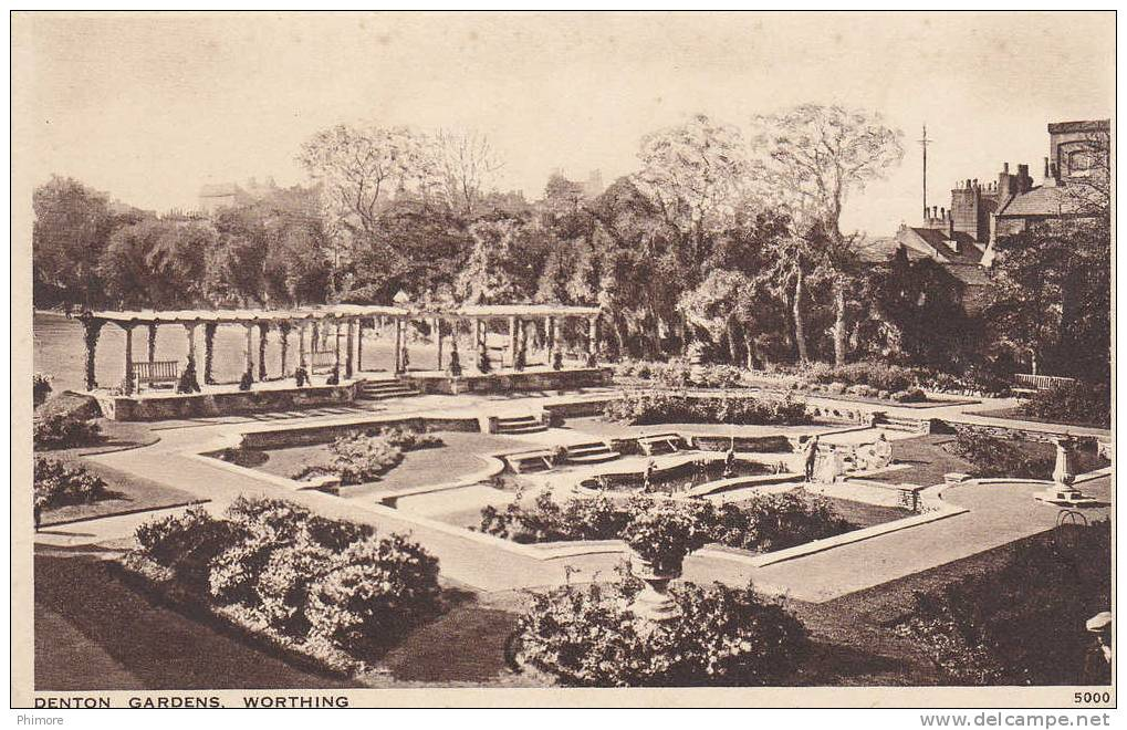 Ph-CPA Angleterre Worthing (Sussex) Denton Gardens, Petit Format - Worthing