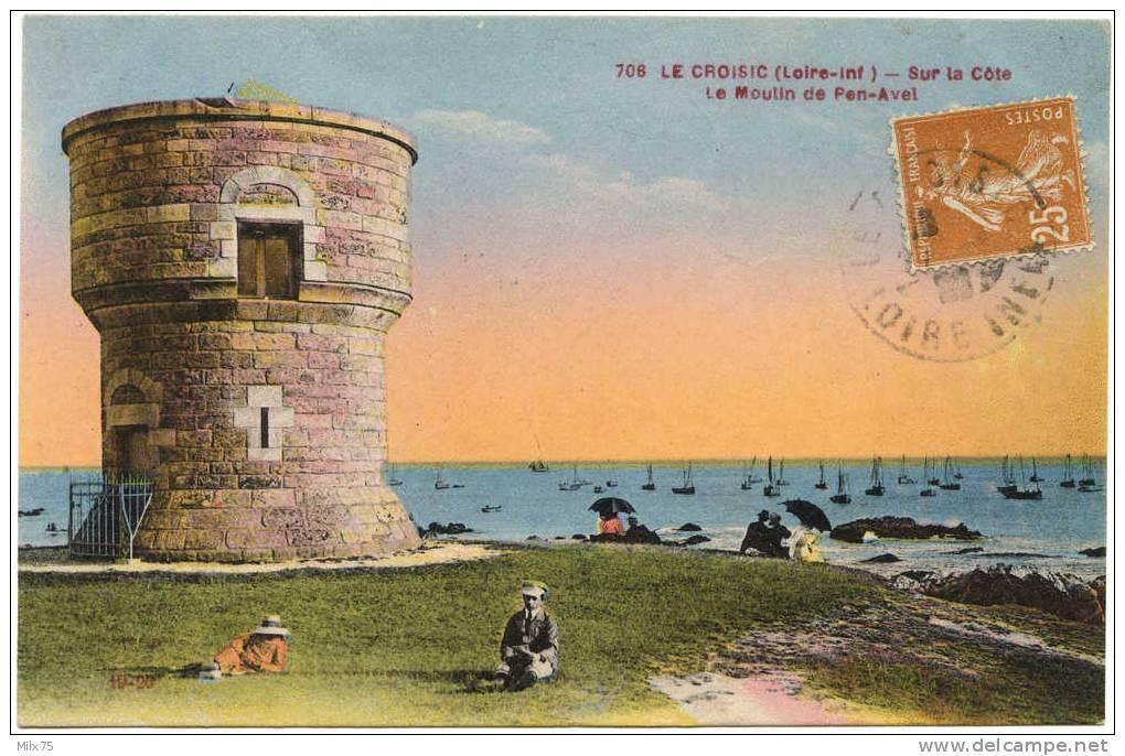 44 - LE CROISIC - Sur La Côte Le Moulin De Pen-Avel - Le Croisic
