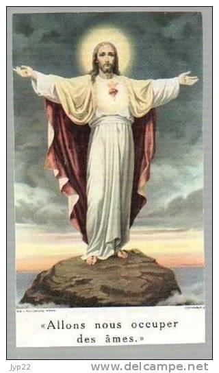 Image Pieuse Allons Nous Occuper Des Ames - Tableau Peinture Jésus Christ De L. Salomone  - Prière - Images Religieuses