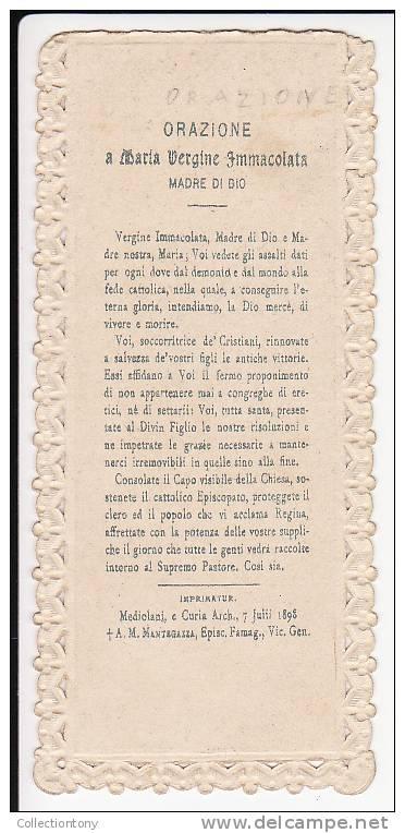 SANTINO - VERGINE MARIA TRAFORATO PERIODO FINE 800° MIS. 53X118 - Religion & Esotericism