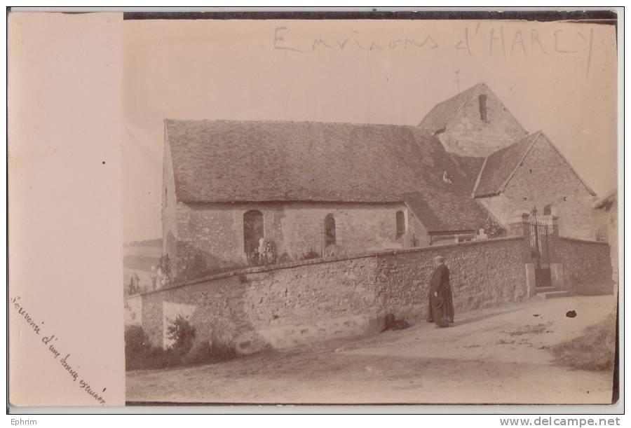 Eglise Des Ardennes (?) - Carte-photo à Situer Adressée Au Curé D'Harcy - To Identify