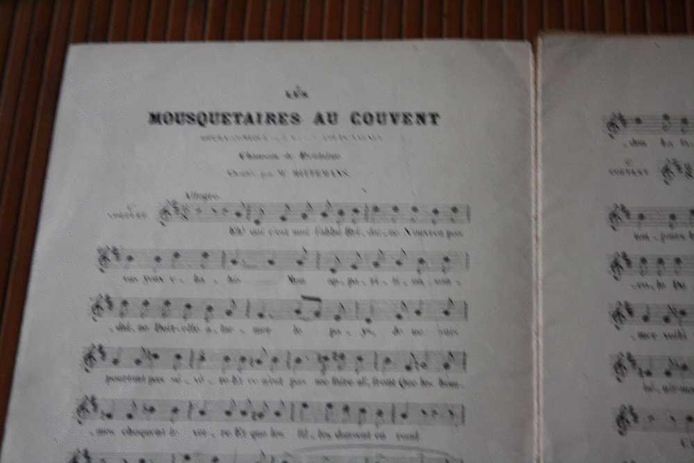 OPERA COMIQUE-MOUSQUETAIRES AU COUVENT-FERRIER-PREVEL - 10 PAGES  PARTITION MUSICALE-MUSIQUE - - Opern
