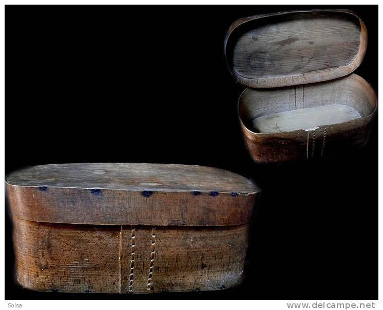 Ancien Carton à Chapeaux Français En Bois XIXème / Old French Hat Box XIXth Century - Art Populaire