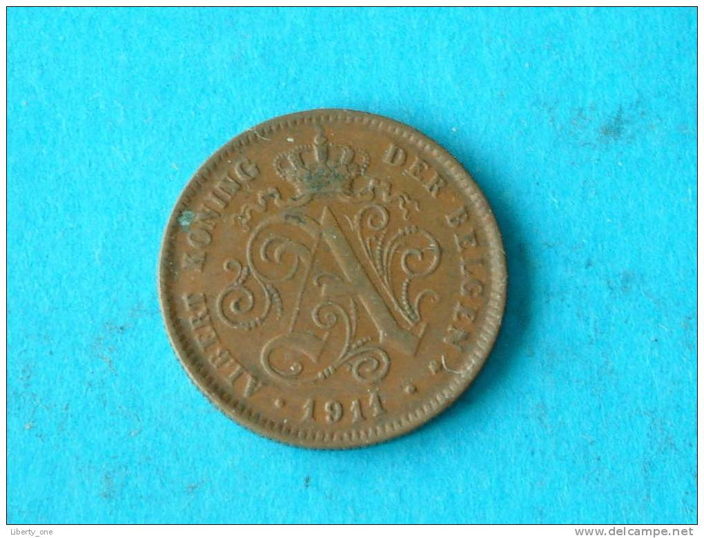 1911 VL - 2 CENTIEM ( Morin 311 - For Grade / Please See Photo ) ! - 1909-1934: Albert I