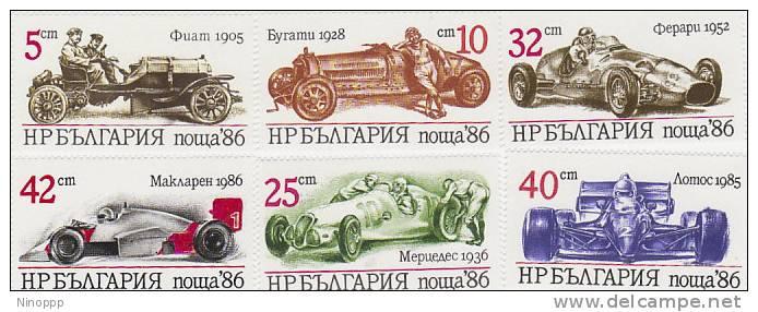 Bulgaria-1986 Cars MNH - Cars