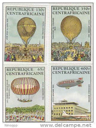 Central African Republic-1983 200th Anniversary Manned Flight MNH - Airships