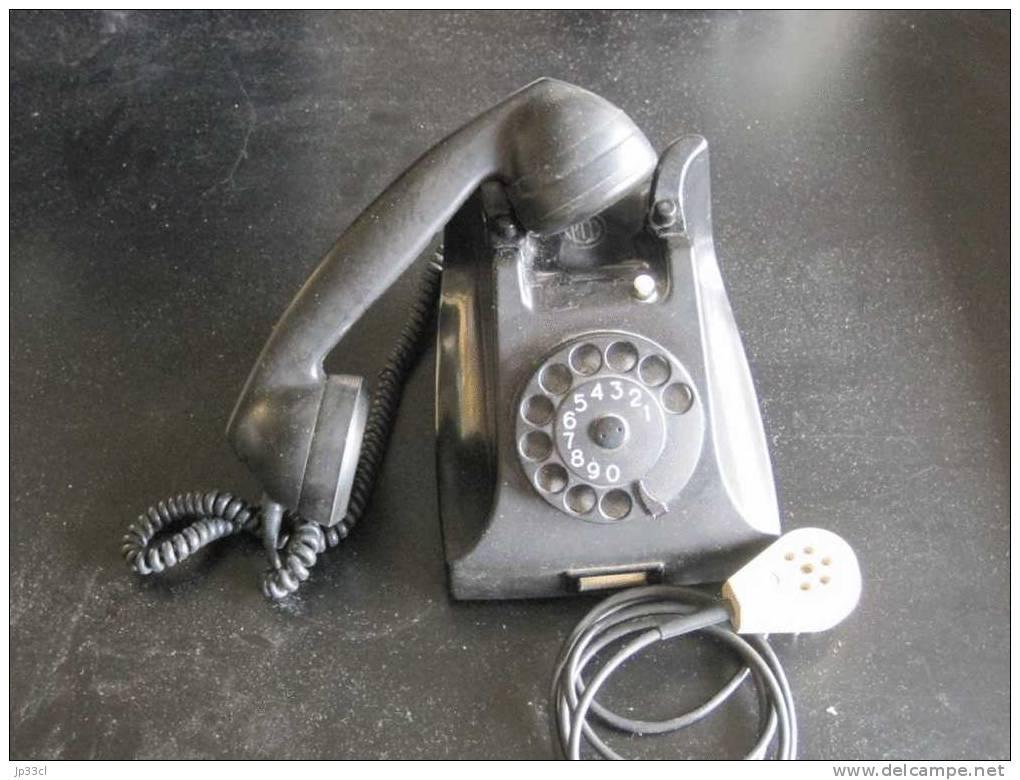 Ancien Téléphone à Cadran Rotatif PTT De Marque Ericsson Rijen - Téléphonie