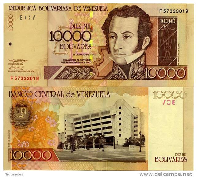 Venezuela 10000 Bolivares 2004 P 92 UNC - Venezuela