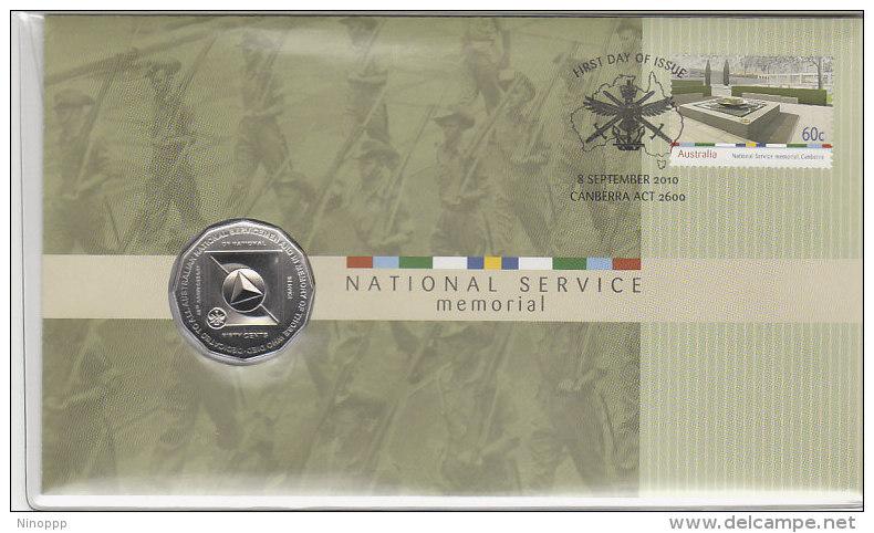 Australia-2010 National Service Memorial Numismatic FDC - FDC