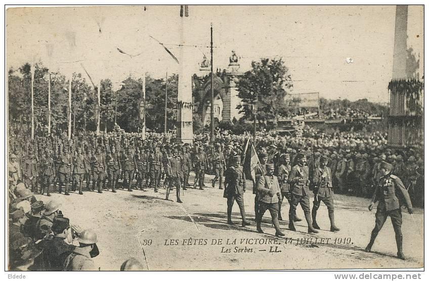 Fetes Victoire Paris 14 Juillet 1919  Les Serbes Serbian Troops - Serbie