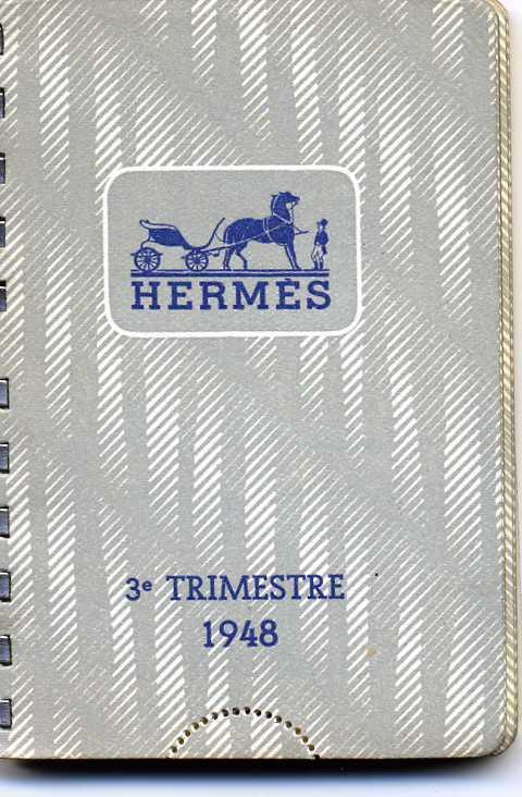 AGENDA HERMES 3e TRIMESTRE 1948 VIERGE ET PARFAIT ETAT BORDURES DOREES - Calendriers