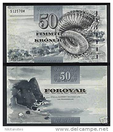 * FAEROE ISLANDS - 50 KRONUR 2001 UNC - P 24 - Banknotes