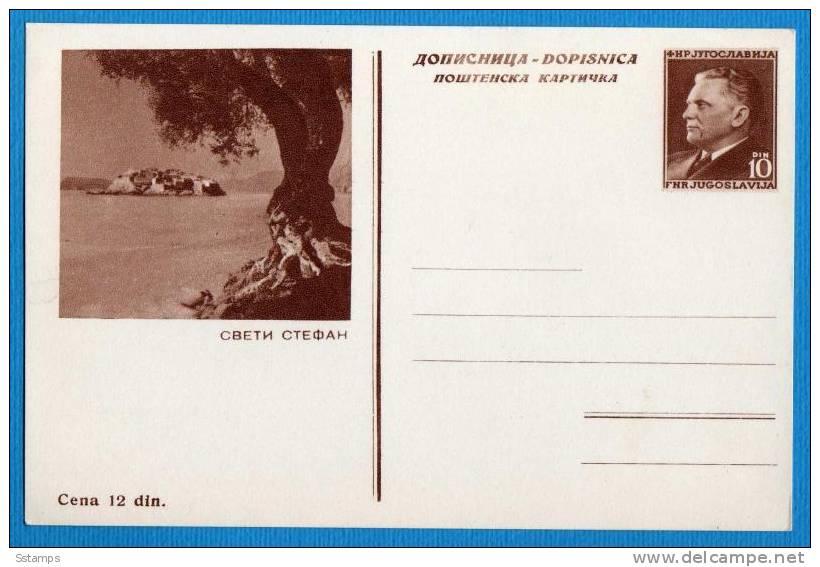 A-41  JUGOSLAVIA  MONTENEGRO  TITO POSTAL CARD - Postal Stationery
