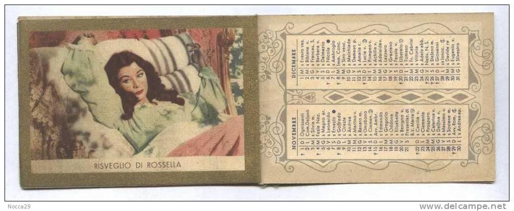 CALENDAR 1953 VIA COL VENTO - GONE WITH THE WIND - CLARK GABLE VIVIAN LEIGH - Calendars