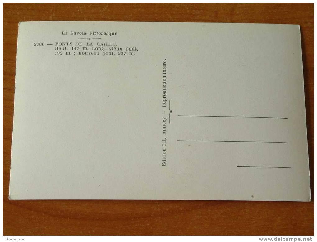 PONTS DE LA CAILLE / Anno 19?? ( Details Op Foto´s ) !! - Autres Communes