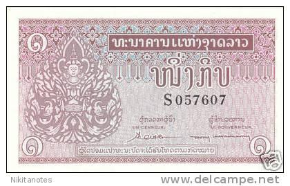 Laos 1962 1 Kip Banknote UNC - Laos