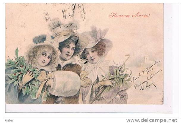 FEMMES - HEUREUSE ANNEE -  Illustrateur M.M. VIENNE N° 89 - Vienne