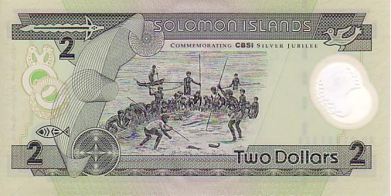 SOLOMON ISLANDS   2 Dollars Non Daté (1987)   Pick 18      *****BILLET  NEUF***** - Salomons
