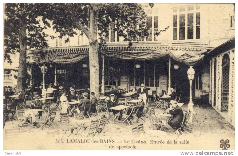 34)  LAMALOU   Les  BAINS   - Le   Casino   - Entrée De La Salle De Spectacle - Lamalou Les Bains