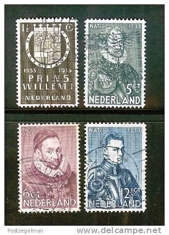 NEDERLAND 1933 Herdenking Serie 252-255 Used  # 1111 - Period 1891-1948 (Wilhelmina)