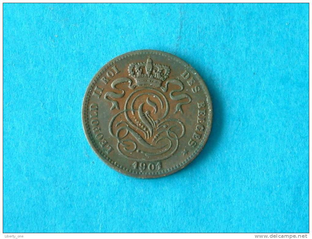 1901 FR - 1 CENTIEM / Morin 230 ( For Grade, Please See Photo ) ! - 1865-1909: Leopold II