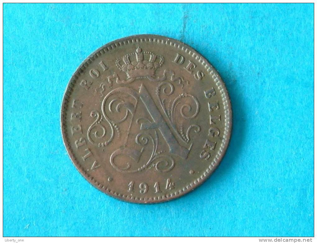 1914 FR - 2 CENTIEM / Morin 314 ( For Grade, Please See Photo ) ! - 1909-1934: Albert I
