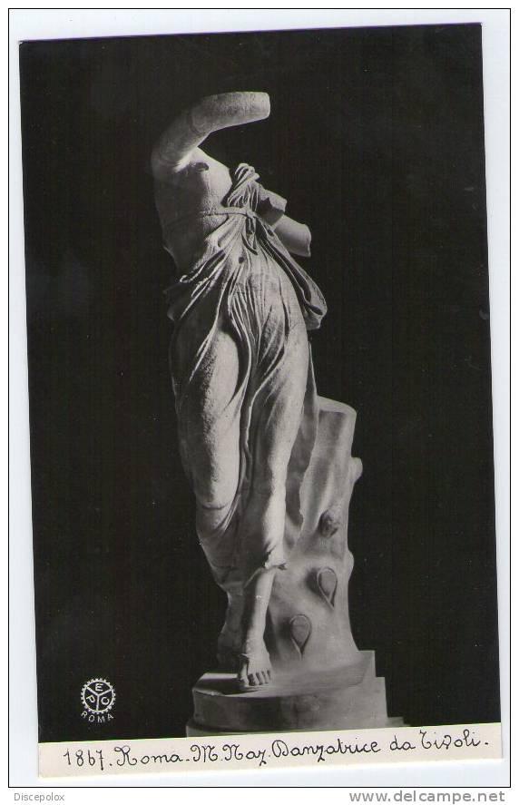 C87 E.PC N. 1867 - Roma - Museo Nazionale - Danzatrice Da Tivoli -  Mini Card / Non Viaggiata - Sculture