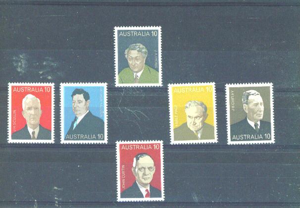 AUSTRALIA - 1975 Prime Ministers UM - Ungebraucht