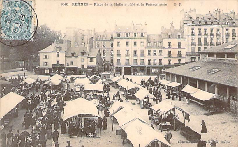 35 - Rennes - Place De La Halle Au Blé Et La Poissonnerie - Rennes