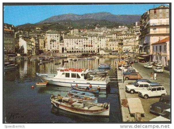 16364 Corse Inoubliable, Bastia Le Vieux Port ; Rion; Voiture 4L, 2CV, Barque AJ-602, Yatch MA-2137 - Bastia