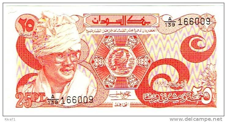 """25 Piastres    """"SOUDAN """"       UNC     B2 - Sudan"""