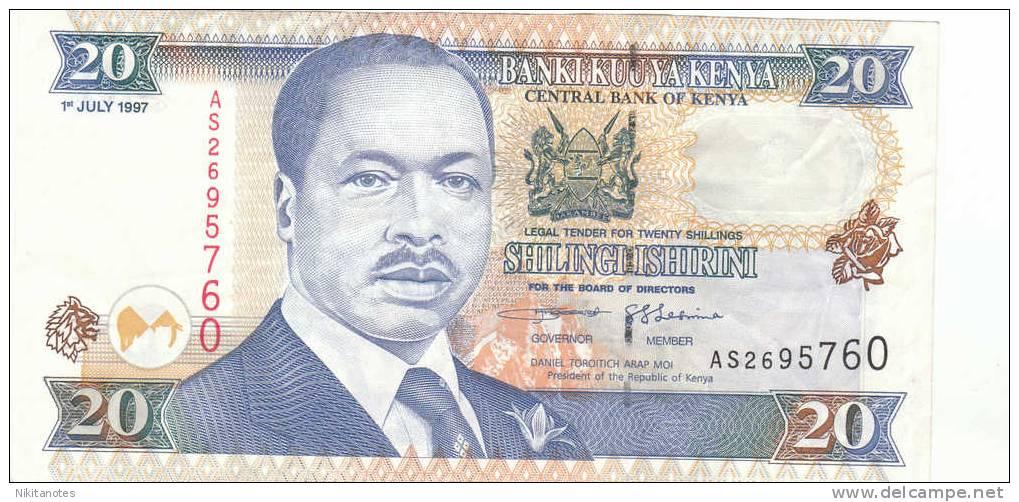 Kenia 20 Shillings Kumi Note 1997 F VF - Kenia