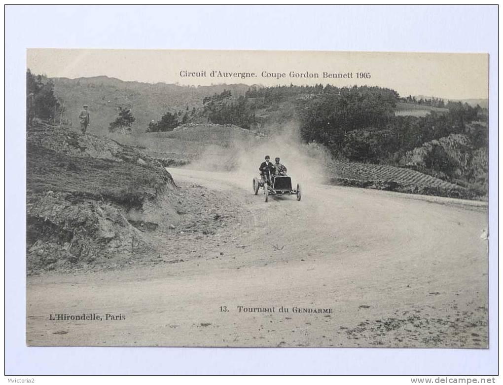Coupe GORDON BENNETT 1905- Circuit MCIHELIN - Le Virage Du Gendarme - Cartes Postales