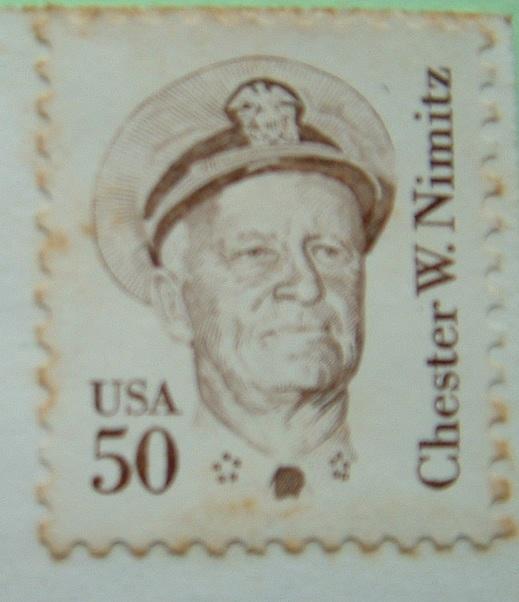 USA 1996 Postcard To Nicaragua - Chester Nimitz - Etats-Unis