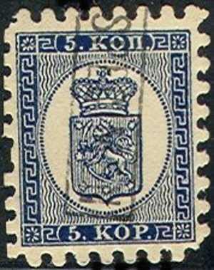 #1- Finland   4, Used, SCV$ 200.00, Fin004-1,    Type L, 1.25m Depth - 1856-1917 Russian Government