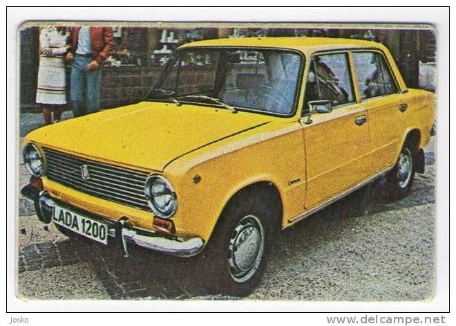 LADA - AvtoVAZ Samara - Russia ( Croatia Vintage Card ) Car Automobile Auto Cars Automobiles Automovil Voiture Autos - Other Collections