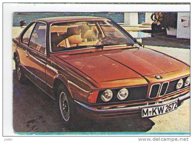 BMW - Germany ( Croatia Vintage Card ) Car Automobile Auto Cars Automobiles Autos Oldtimer - Other Collections